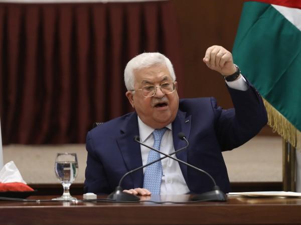 Палестинският президент Махмуд Абас заяви, че палестинските власти повече няма