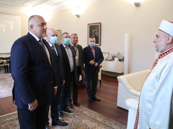 Премиерът Бойко Борисов се срещна с главния мюфтия д-р Мустафа
