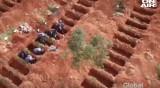 Дрон показва смразяващи кадри над гробищен парк в Бразилия