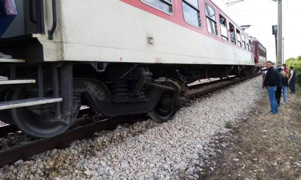 105 човека са пътували в дерайлиралия влак, няма пострадали