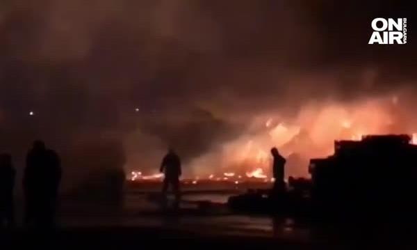 Двама леко пострадали след пожара край Кърналово
