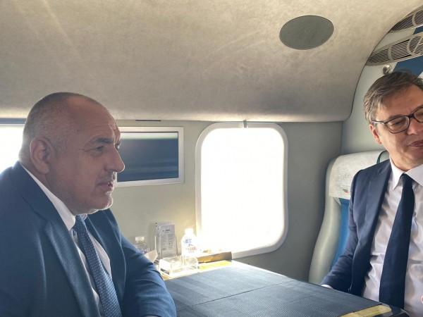 Министър-председателят Бойко Борисов и президентът на Сърбия Александър Вучич инспектираха