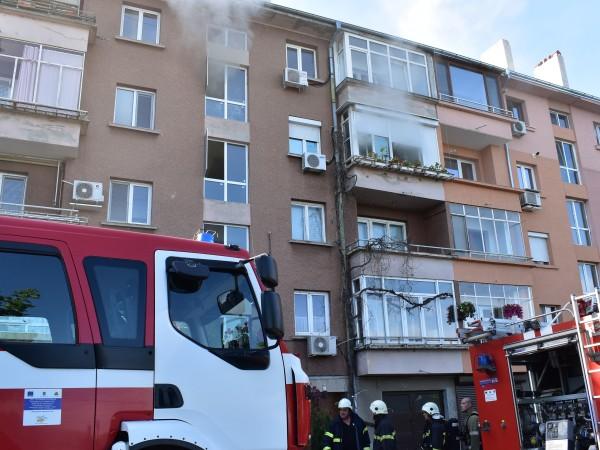 Тази сутрин е избухнал пожар в жилищен блок в Русе.