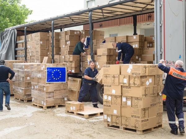 Над седем тона лични предпазни средства бяха успешно доставени в