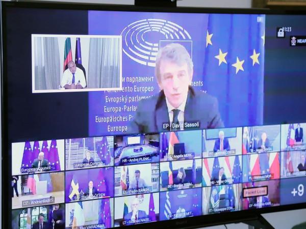 Министър-председателят Бойко Борисов подкрепи Плана за възстановяване на Европа. Премиерът