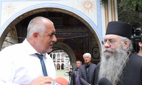 Борисов отиде в Рилския манастир и сметна: 10 млн. е идването ми