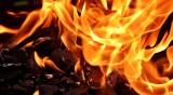 Пожар, предизвикан от късо съединение, остави семейство без дом
