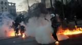 Насилие избухна при демонстрации в Гърция