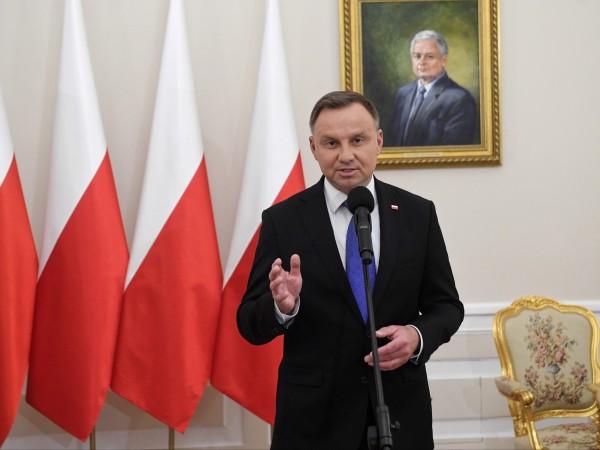 Действащият полски президент Анджей Дуда, който се бори за втори