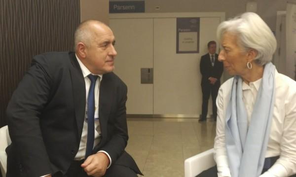 Кристин Лагард поздрави Борисов за приемането ни в чакалнята на еврозоната