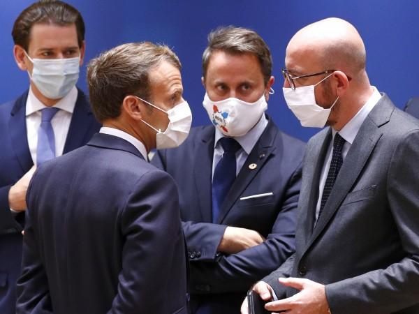 Френският президент Еманюел Макрон се е скарал с австрийския канцлер