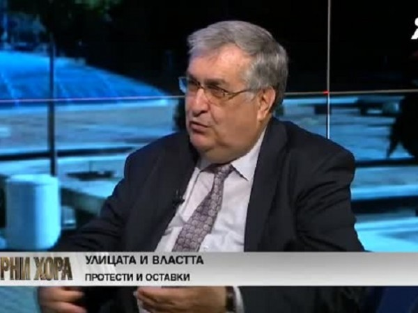 "В студиото на предаването ""Опорни хора"" проф. Георги Близнашки, бивш"