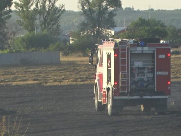 Голям пожар край Пловдив. Горят автоморга и треви на околовръстния