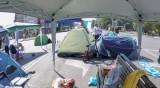Хаос и задръствания заради палатковия лагер във Варна