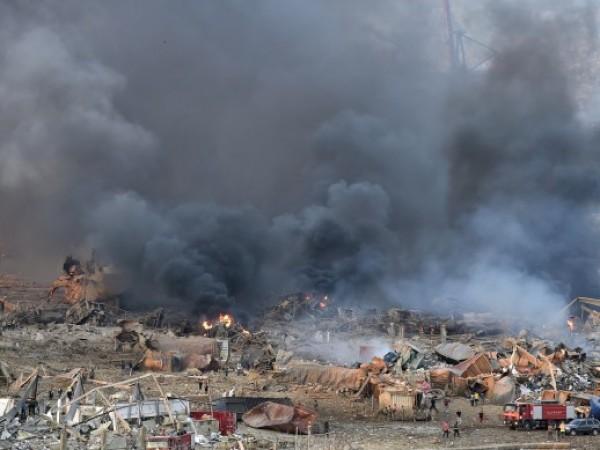 Огромна експлозия стана на пристанището в ливанската столица Бейрут. Жертвите
