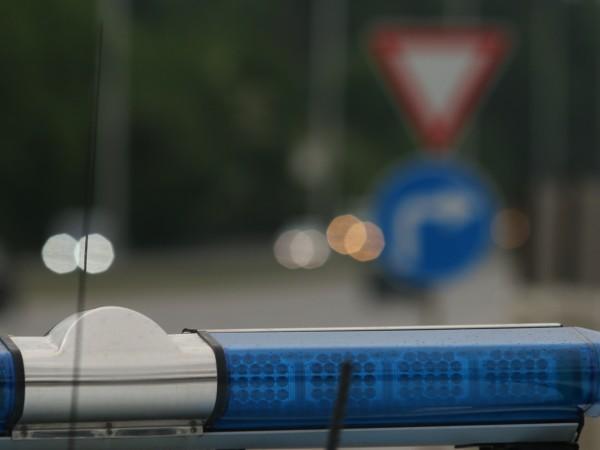 Служебен автомобил на НСО, придвижващ се по пътя между Черноморец
