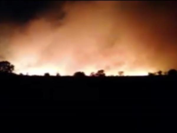 Евакуираха хората от хасковското село Присадец заради големия пожар. Там