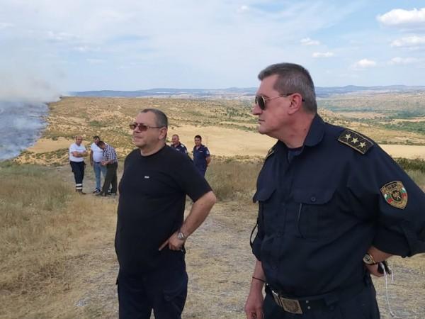 Няма пострадали и загинали хора при пожара край село Маточина,