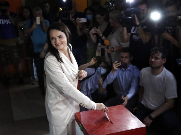 Кандидатката на опозицията на президентските избори в Беларус Светлана Тихановска