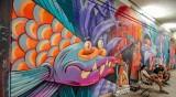 Градското пространство в цветове, графити преобразиха подлеза на Централна гара