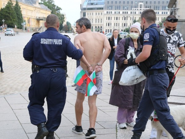 Снимка: БГНЕСВ началото на 38-я ден на протести, гражданите са