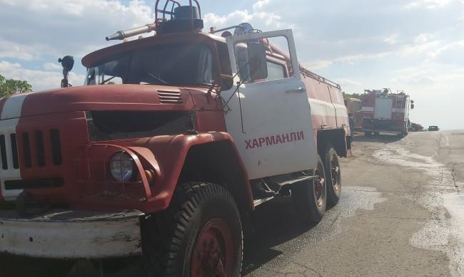 Пожар възникна в землището на димитровградско село