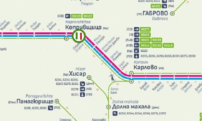 Пускат отново влаковете между гарите Карлово и Антон