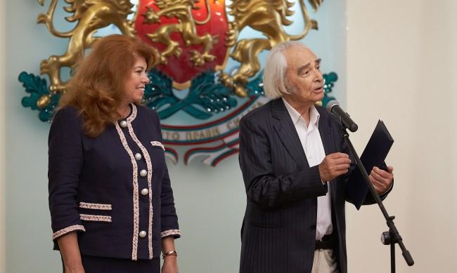 Йотова награди акад. Антон Дончев с почетния плакет на вицепрезидента