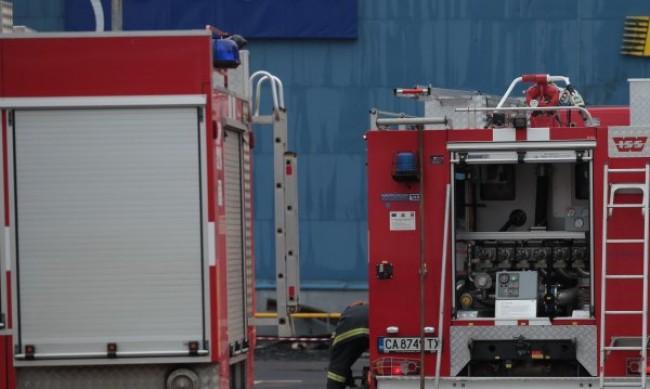 Пожар на учебния полигон на Военния университет във Велико Търново