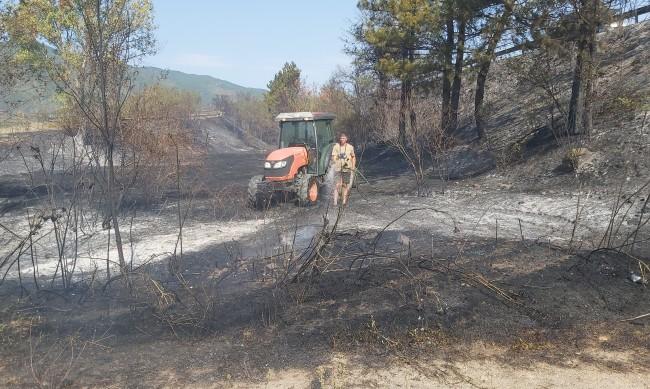 Над 100 декара гори и лозя в Петричко са изпепелени