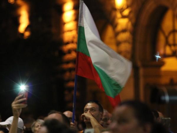 Снимка: БГНЕС За 72-и пореден ден се събират протестиращи срещу