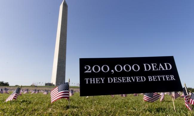 Починалите от COVID-19 в САЩ вече са над 200 хиляди