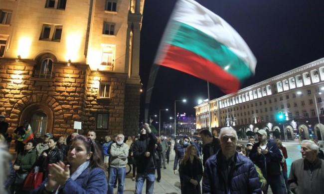 За 103-та поредна вечер антиправителствен протест в София