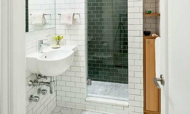 Мебели, осветление и акценти в малка баня