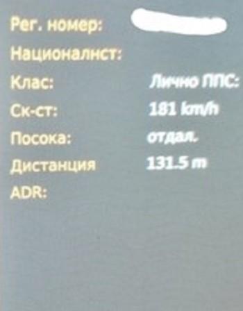 Още един джигит по улиците на Пловдив - лети със 180 км/ч
