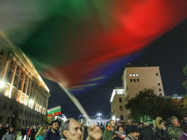 В центъра на София за 109-а вечер се провежда протест