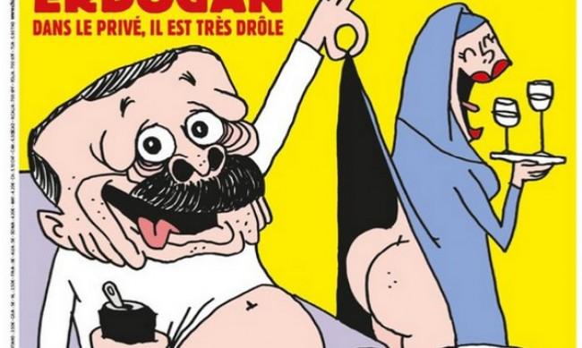 """Турция на битка заради карикатурата на Ердоган в """"Шарли ебдо"""""""