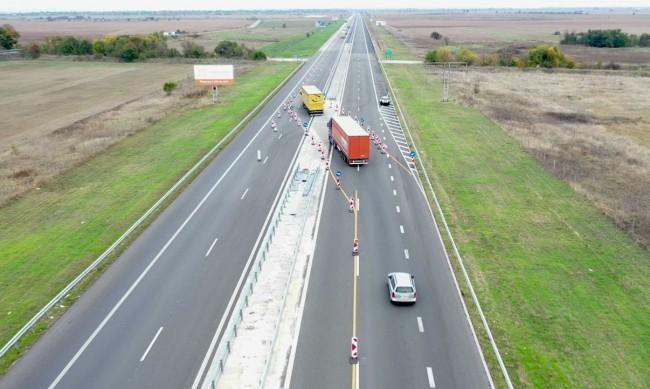 """Ремонтираха 12 км от """"Тракия"""" към Бургас"""