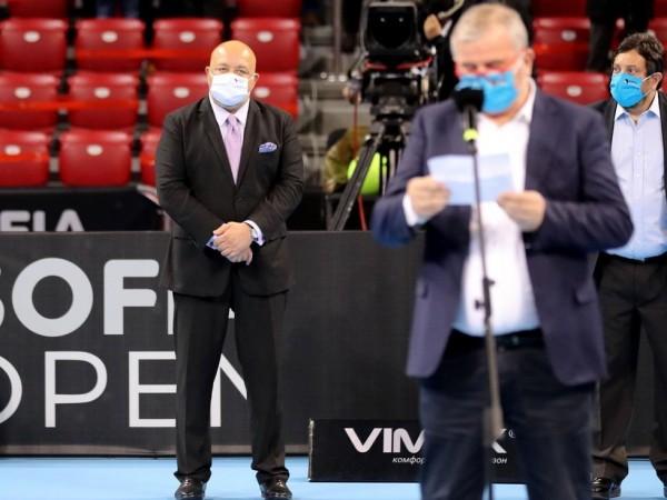 Министърът на младежта и спорта Красен Кралев и президентът на