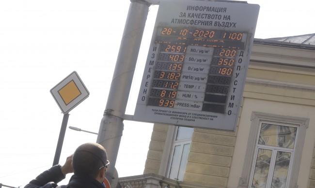 Азотен диоксид трови въздуха в София