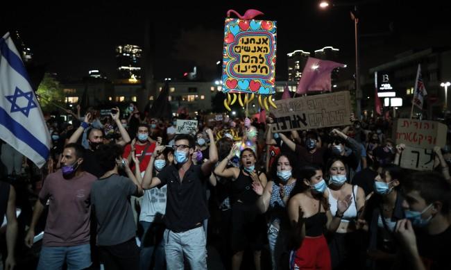 Хиляди излязоха на протест срещу премиера на Израел
