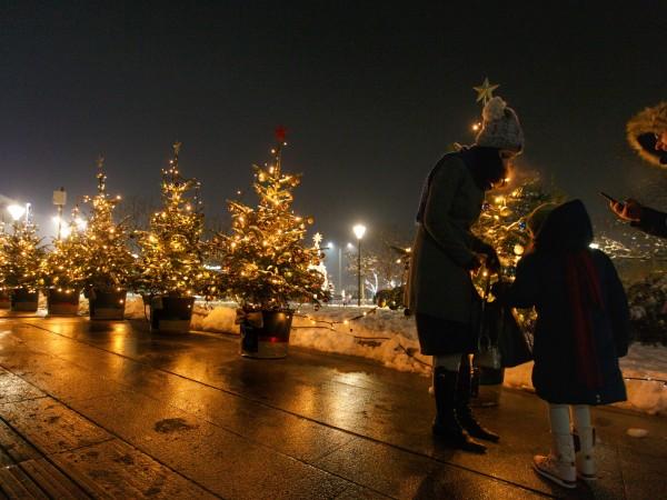 Снимка:Димитър Кьосемарлиев, Dnes.bg Без тържество и празнична програма запалиха светлините