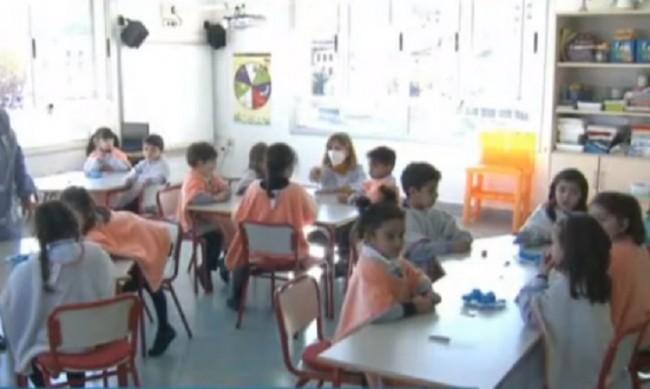 На училище в Испания: На отворен прозорец, с шапка, шал и одеяло