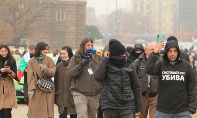 150 дни протести: Тикви срещу Министерския съвет в София