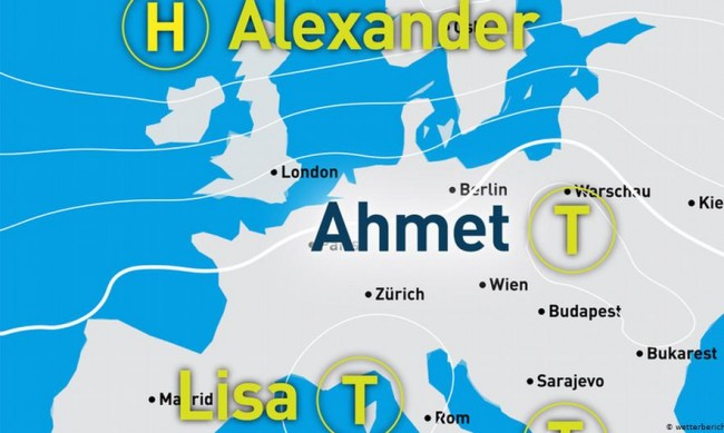 """В Германия кръщават циклони """"Ахмет"""", """"Бартош"""", """"Джемал"""""""