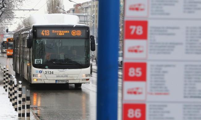 Проблеми след дъжда промениха маршрута на автобуси в София