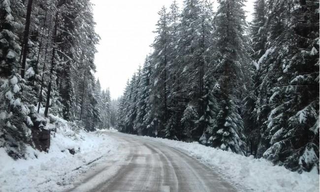 Опасно разцепване на планински масив в близост до път в Благоевград