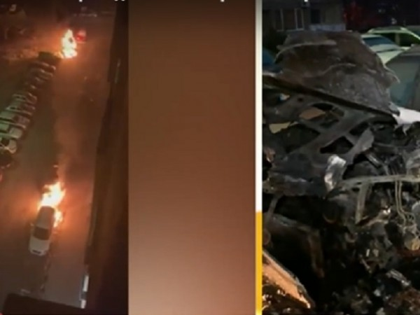 За една нощ бяха запалени три автомобила на един и
