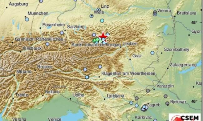 Земетресение от 4,5 в Централна Австрия