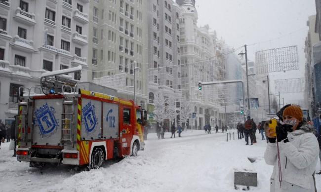 Експлозия в центъра на Мадрид слез изтичане на газ